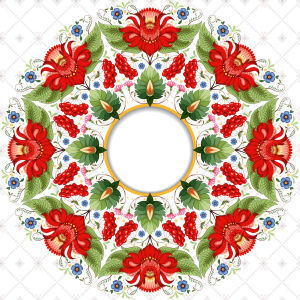 Скатерть Цветочный орнамент (0082)