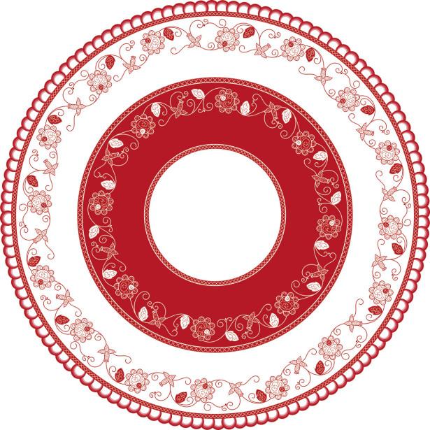 Скатерть с цветочным орнаментом (224)