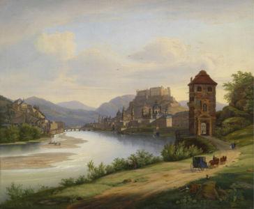 Фотообои Вид Зальцбурга 1833 (art-0000715)