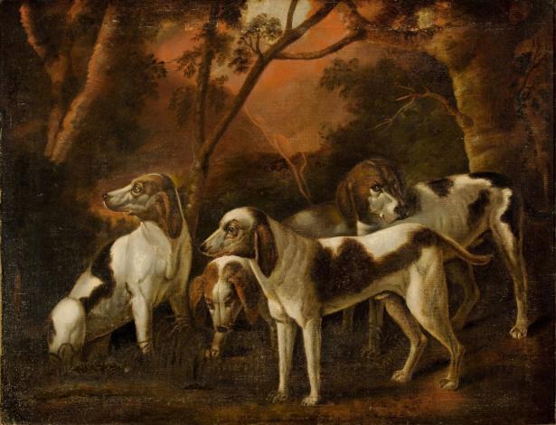Фотообои Собаки под деревьями (art-0000774)