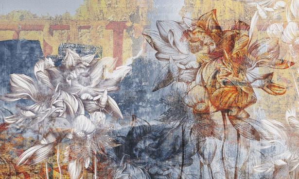 Фотообои Винтажный фон с цветами (background-413)