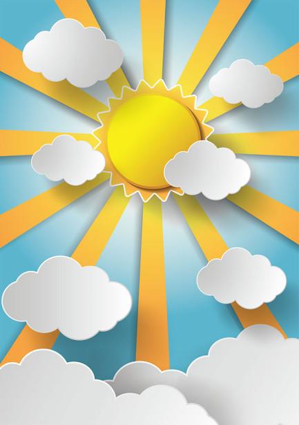 Фотообои Солнце и облака (child-498)