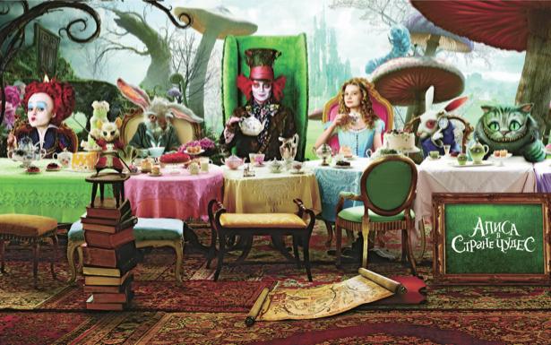 Алиса в Стране чудес детские обои (children-0000043)