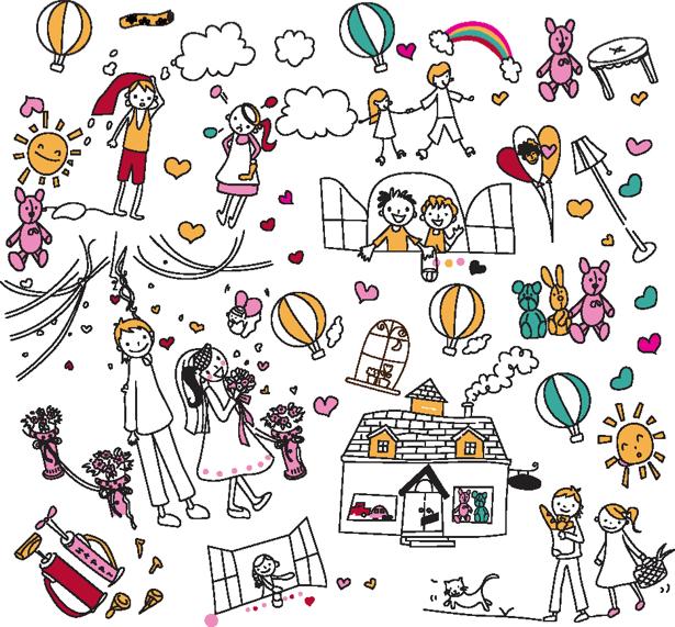 Детские рисунки детские фотообои (children-0000195)
