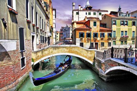 Фотообои канал в Венеции Италия (city-0000653)