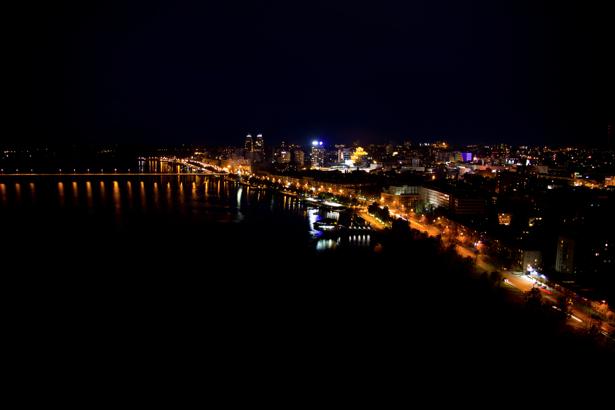 Фотообои Днепропетровск огни города (city-0000929)