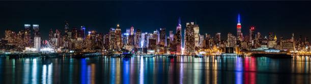 Фотообои Америки ночные огни Нью-Йорк (city-0001335)