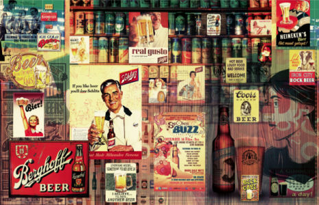 Фотообои бар история пива винтаж (commercial-00001)