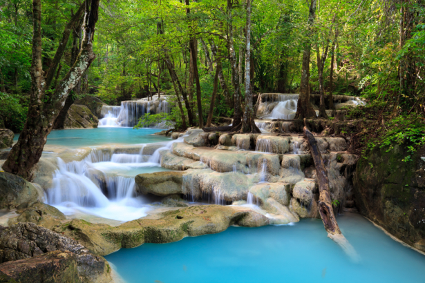 Фотообои камни водопад лес (nature-0000712)