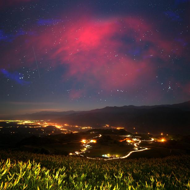 Фотообои ночь над городом (nature-00593)