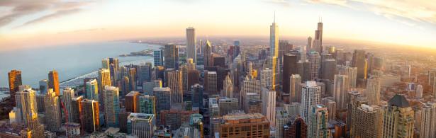 Фотообои Чикаго, штат Иллинойс (panorama-65)