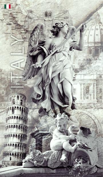 Фотообои Статуя ангела (printmaking-0000082)