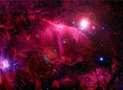Фотообои красная галактика (space-0000010)