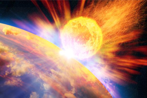 Фотообои удар метеорита (space-0000070)