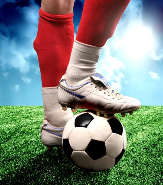 Фотообои футболист бутсы (sport-0000043)