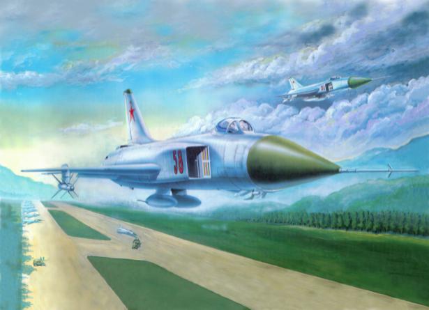 Фотообои советский истребитель в небе (transport-0000074)