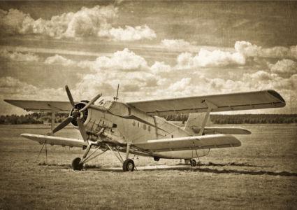 Фотообои самолет винтаж (transport-0000240)