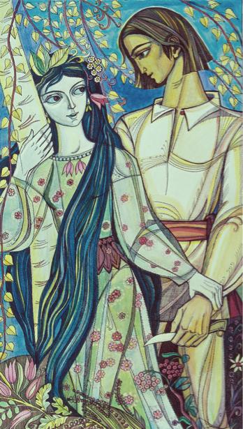 иллюстрации к произведению Л. Украинки - Лесная песня (ukraine-0170)
