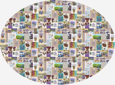 Скатерть овальная Лавандовая (0196-2)