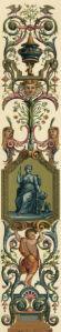 Обои фреска орнамент барокко (angel-00051)