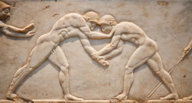 Фотообои борьба Греция (background-0000281)