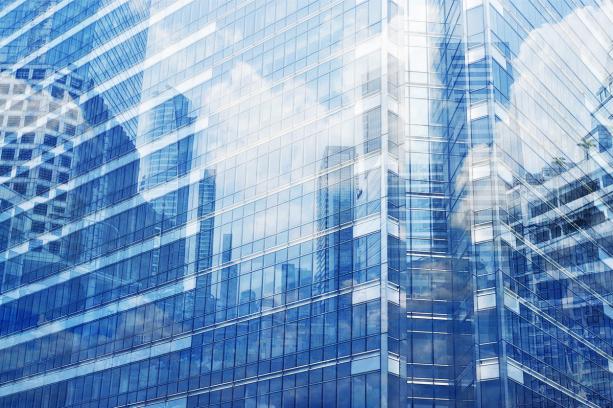 Фотошторы отражение в небоскребах (bedroom-curtain-00022)