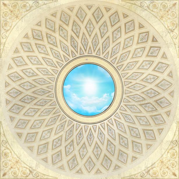 Фотообои на потолок орнамент (ceiling-18)