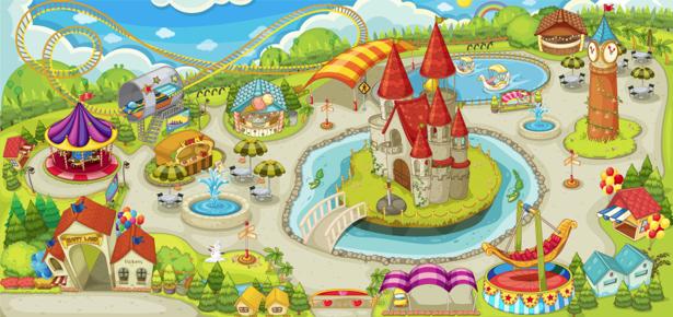 Детские фотообои детская площадка (children-0000222)