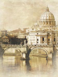 Фотообои Ватикан мост Умберто (city-0000564)