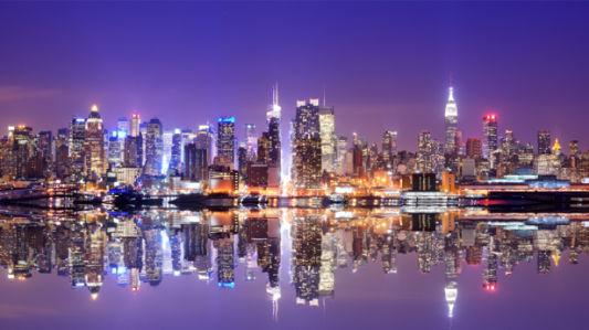 Фотообои фиолет гон-конг (city-0001157)