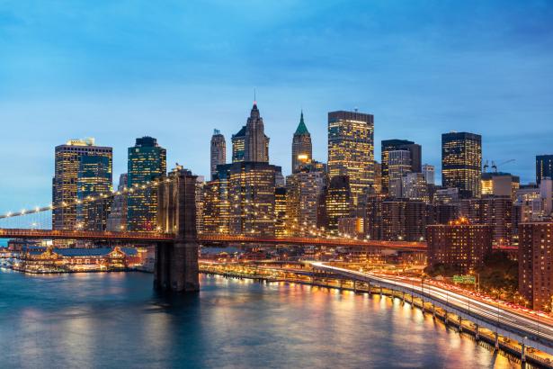 Фотообои Нью-Йорк Бруклинский мост (city-0001376)