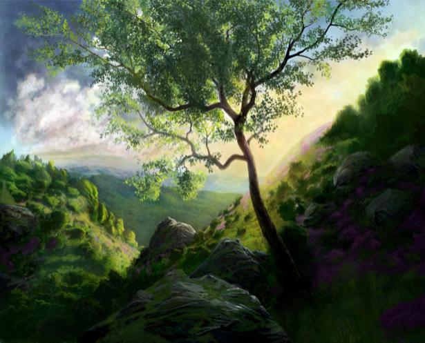 долина в фентезийном лесу (fantasy-0000020)