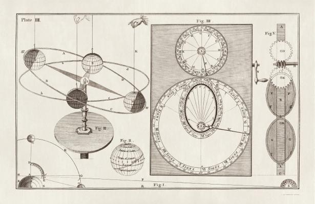астрономия, астрономическая иллюстрация (map-0000059)