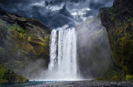 Фотообои водопад, ущелье (nature-0000845)