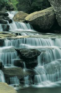 Фотообои с природой горный водопад струи (nature-00368)