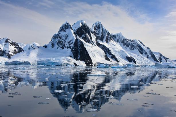 Фотообои фото пейзаж снежные горы (nature-00499)