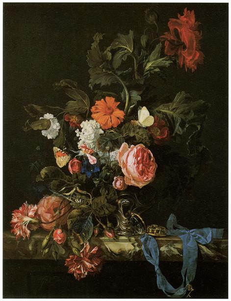 картина натюрморт с цветами (pf-1)
