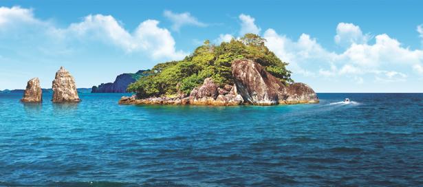 Фотообои остров в море панорама (sea-0000339)
