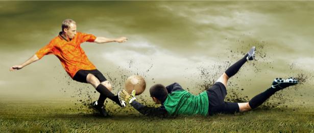 Фотообои футболисты атака (sport-0000035)
