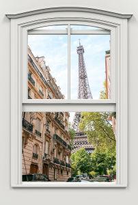 Фотообои Эйфелевая башня за окном (win-33)