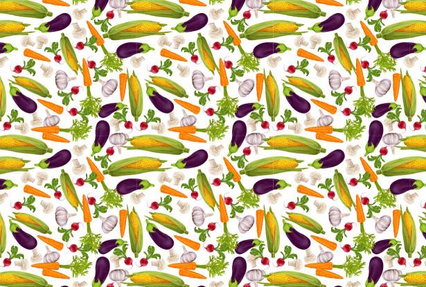 Скатерть овощи на столе (0160)