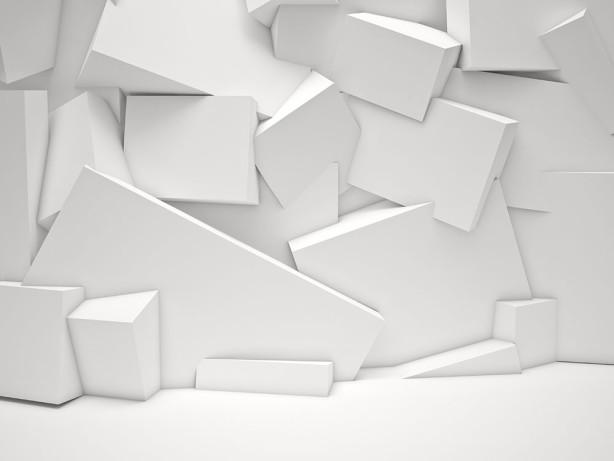 Фотообои белые кубы (3d15)