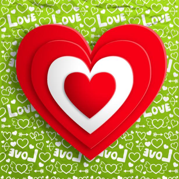 Фотообои Красное сердце (background-0000363)