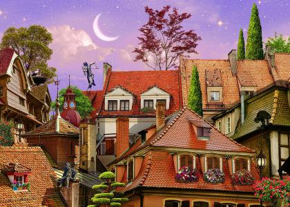 Фотообои Крыши старого городка (bedroom-5)