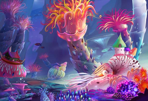 Фотообои Волшебный подводный мир (child-566)