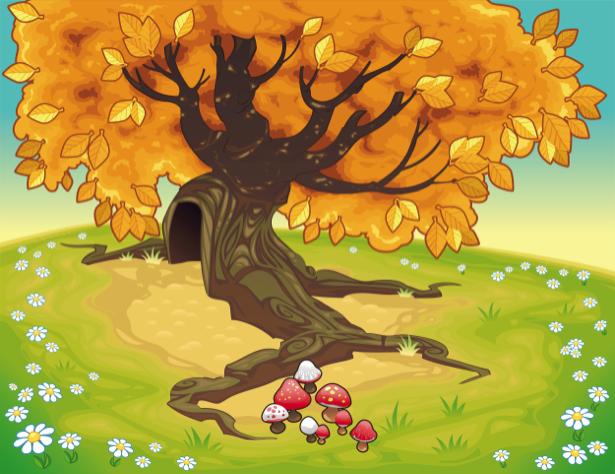 Фотообои детские - Сказочное дерево (children-0000256)