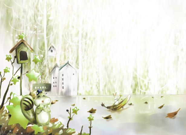 Детские фотообои - озеро (children-0000339)