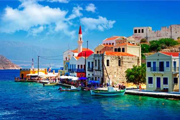 Фотообои Греция набережная причал (city-0000616)