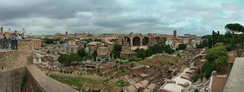 Фотообои античная панорама Рим (city-0000762)
