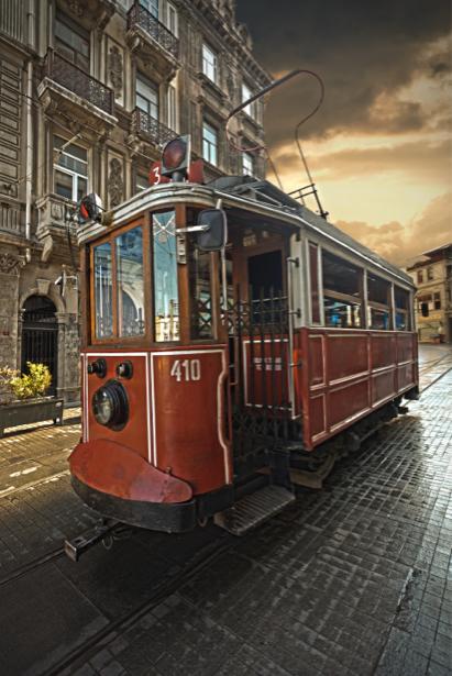 Фотообои трамвай турция стамбул (city-0001098)